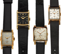 Four Vintage 14k Gold Wristwatches