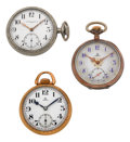 Timepieces:Pocket (post 1900), Vacheron Constantin & Two Omega Pocket Watches. ... (Total: 3Items)