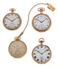 Timepieces:Pocket (post 1900), Four 14k Gold Watches, Howard's, Elgin & Waltham. ... (Total: 4Items)
