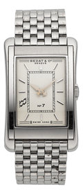 Timepieces:Wristwatch, Bedat Ref. 710 Steel Rectangular Wristwatch. ...