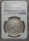 Hong Kong, Hong Kong: British Colony. Victoria Dollar 1868 AU Details (Obverse Scratched, Cleaned) NGC,...
