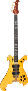 Musical Instruments:Bass Guitars, 2006 Alembic Dragon Wing Natural Electric Bass Guitar, Serial # 06DW13608, Weight: 10.4....