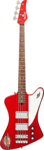 Musical Instruments:Bass Guitars, 2011 Mike Lull T4 Cardinal Red Electric Bass Guitar, Serial # 1823, Weight: 7.2 lbs....