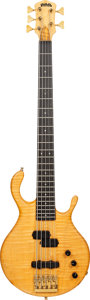 Musical Instruments:Bass Guitars, 1988 Padulla MVP-5 Natural 5-String Electric Bass Guitar, Serial # 2128, Weight: 9 lbs....