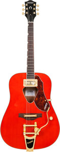 Musical Instruments:Acoustic Guitars, 2014 Gretsch G5034TFT Rancher Orange Acoustic Guitar, Serial #IS14090025....
