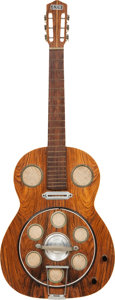 Musical Instruments:Resonator Guitars, 1960's Del Vecchio Dinamico Natural Electric Resonator Guitar. ...