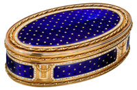 A Rare and Important Christian Maas Swedish 20K Gold and Enameled Snuff Box, by repute from the Collection of a Royal