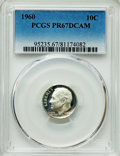 Proof Roosevelt Dimes, 1960 10C PR67 Deep Cameo PCGS. PCGS Population: (125/408). NGCCensus: (137/271). ...