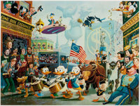Carl Barks July Fourth in Duckburg Signed Limited Edition Lithograph Print #46/350 (Another Rainbow, 1998)