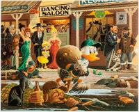 Carl Barks Nobody's Spending Fool Signed Limited Edition Lithograph Print #46/350 (Another Rainbow, 1997)