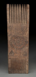 Judaica:Archaeology, EGYPT. Coptic Period, circa 600-800 CE. Large wooden comb. ...