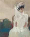 Fine Art - Painting, European:Contemporary   (1950 to present)  , Ricardo Montesinos (Spanish, b. 1942). La Novia. Oil oncanvas. 18 x 15 inches (45.7 x 38.1 cm). Signed lower right:M...