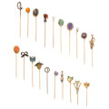 Estate Jewelry:Stick Pins and Hat Pins, Diamond, Multi-Stone, Freshwater Pearl, Enamel, Glass, Gold Stickpins. ... (Total: 20 Items)