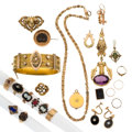 Estate Jewelry:Lots, Victorian Diamond, Multi-Stone, Freshwater Pearl, Seed Pearl, Gold, Gold-Filled Jewelry. ... (Total: 26 Items)