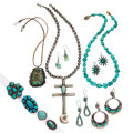 Estate Jewelry:Lots, Turquoise, Silver Jewelry. ... (Total: 0 Items)