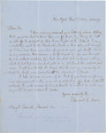 Autographs:Authors, Clement Moore Autograph Letter Signed. ...