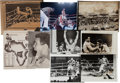 Boxing Collectibles:Memorabilia, 1974 Muhammad Ali vs. George Foreman Wire Photographs Lot of 8....