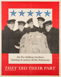 Autographs:Military Figures, [Sullivan Brothers] Naval Archive Relating to the Commemoration ofthe Deaths of the Sullivan Brothers, the Inspiration for ...