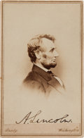 Autographs:U.S. Presidents, Abraham Lincoln Carte de Visite by Mathew Brady Signed...