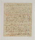 Autographs:Military Figures, Timothy Pickering Autograph Letter Signed Writing of an IndianTreaty with the Five Nations....