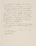 Autographs:Authors, Leo Tolstoy Letter Signed Outlining His Philosophy of Life....