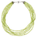 Estate Jewelry:Necklaces, Peridot, Silver Necklace. ...