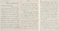 Autographs:Celebrities, Clara Barton Autograph Letter Signed Thanking her Secretary for aReport. ...
