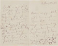 Autographs:Artists, Johann Strauss Jr. Autograph Love Letter Signed. ...