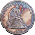 Proof Seated Half Dollars, 1873 50C No Arrows PR64 NGC. CAC. WB-102....