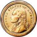 Commemorative Gold, 1903 G$1 Louisiana Purchase, Jefferson Gold Dollar MS67 PCGS.CAC....