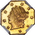 California Fractional Gold , 1871 25C Liberty Octagonal 25 Cents, BG-717, R.3, MS67 NGC....