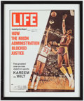 Basketball Collectibles:Publications, Wilt Chamberlain and Kareem Abdul Jabbar Signed LIFE Magazine Cover. ...
