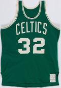 "Basketball Collectibles:Uniforms, Mid 1970's ""Johnson"" Game Worn Boston Celtics Jersey...."