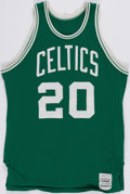 Basketball Collectibles:Uniforms, Mid 1980's Ray Williams Game Worn Boston Celtics Jersey....