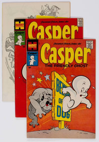 Friendly Ghost Casper Plus File Copy Long Box Group (Harvey, 1957-81) Condition: Average NM-