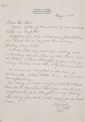 Baseball Collectibles:Others, 1948 Ty Cobb Signed Letter....