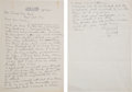 Baseball Collectibles:Others, 1950 Ty Cobb Handwritten Signed Letter....