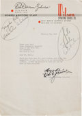 Golf Collectibles:Autographs, 1949 Babe Didrikson Zaharias Signed Letter....