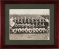 Football Collectibles:Photos, 1943 Green Bay Packers Team Signed Original Oversized Photograph - With Lambeau!...