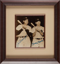 Baseball Collectibles:Photos, 1990's Joe DiMaggio & Mickey Mantle Signed Photograph....