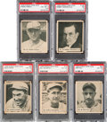 Baseball Cards:Lots, 1936 World Wide Gum PSA Graded Collection (5). ...