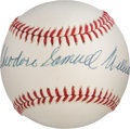 Autographs:Baseballs, Circa 2000 Theodore Samuel Williams Single Signed Baseball....