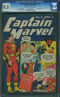 Captain Marvel Adventures #9 (Fawcett Publications, 1942) CGC VF+ 8.5 Cream to off-white pages
