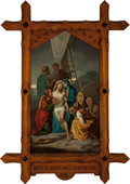 Mainstream Illustration, Continental School (20th Century). Jesus is Taken Down from theCross (Station of the Cross XIII). Oil on canvas. 62 x 3...