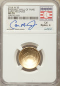 Modern Issues, 2014-W $5 Baseball Hall of Fame Gold Five Dollar, Early Release, Cal Ripken Jr. MS70 NGC. NGC Census: (0). PCGS Population:...