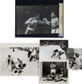 Boxing Collectibles:Memorabilia, 1964 & 1965 Cassius Clay (Muhammad Ali) vs. Sonny Liston I & II Original News Photographs Lot of 5....