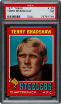 Football Cards:Singles (1970-Now), 1971 Topps Terry Bradshaw #156 PSA NM 7....