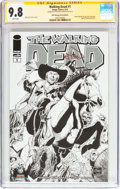 Modern Age (1980-Present):Horror, The Walking Dead #1 Wizard World Chicago Sketch Edition - SignatureSeries (Image, 2013) CGC NM/MT 9.8 White pages....