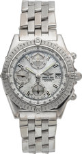 Timepieces:Wristwatch, Breitling Chronomat Heavy 18k White Gold Chronograph Wristwatch With Mother Of Pearl Dial Ref. J13352. ...