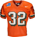 Football Collectibles:Uniforms, 1996 Edgerrin James Game Worn Miami Hurricanes Jersey and Pants - Photo Matched!...